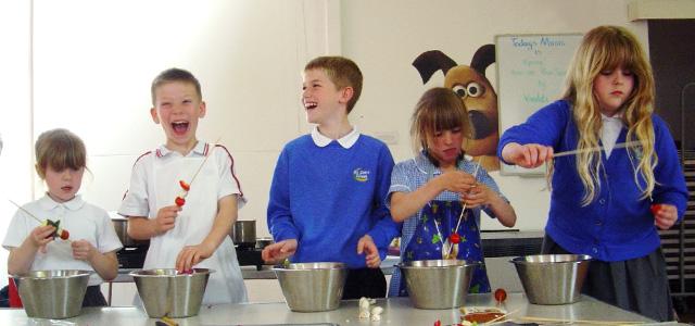 Photograph - Children Cooking - Schools