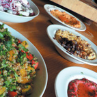 Photograph - five different meals on plates